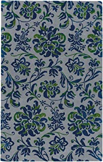 product image for Capel Monaco Nickel Navy 5' x 8' Rectangle Hand Tufted Rug