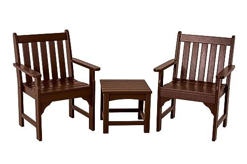 POLYWOOD PWS142-1-MA Vineyard 3-Piece Garden Chair Set