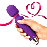 Cordless Wand Massager by Yarosi - Strongest Therapeutic Vibrating Power - Best Rated for Travel Gift - Magic Stress Away - Perfect for Muscle Aches and Personal Sports Recovery - USB - Mini - Purple