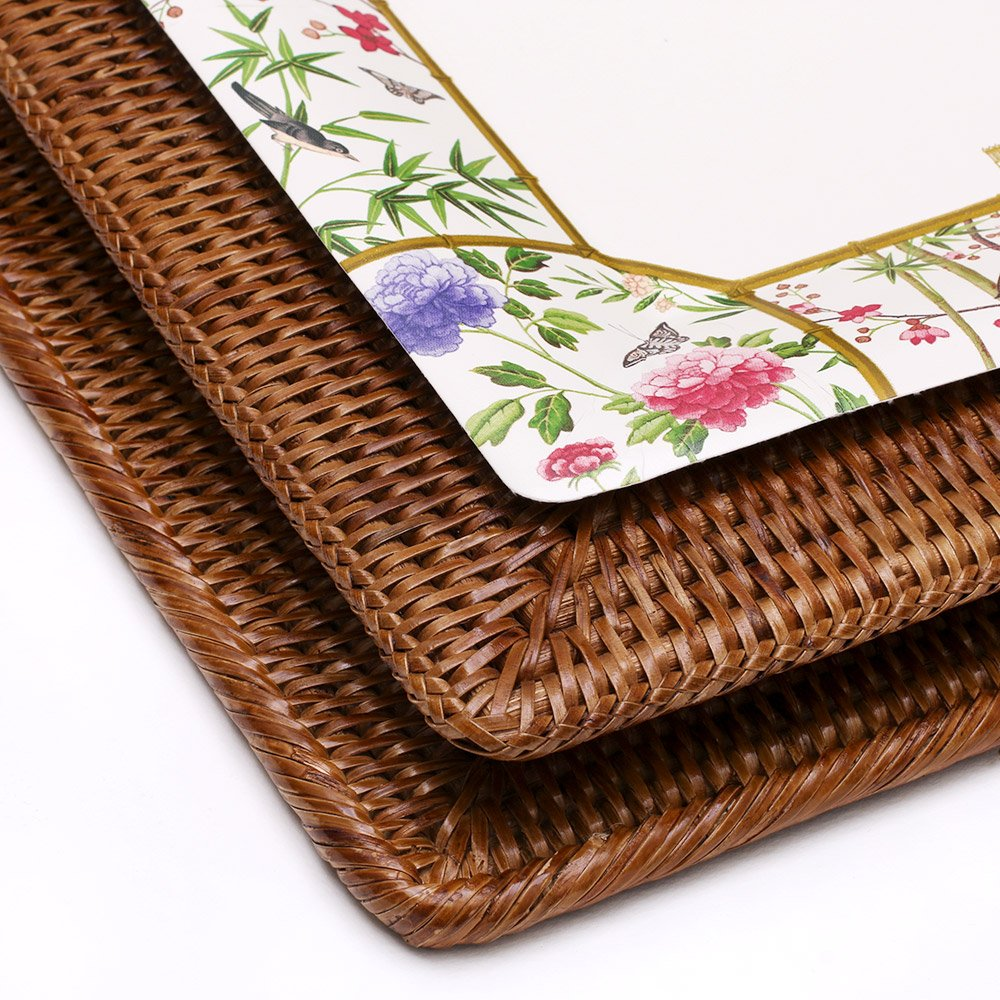 Amazon.com: Entertaining with Caspari Rattan Luncheon Napkin Holder: Kitchen & Dining