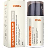 Blitzby Depilatory Cream For Men and Hair Removal Cream For Men, Powerful, Effective 10 Minutes, No smell, Non-Irritating, Ge