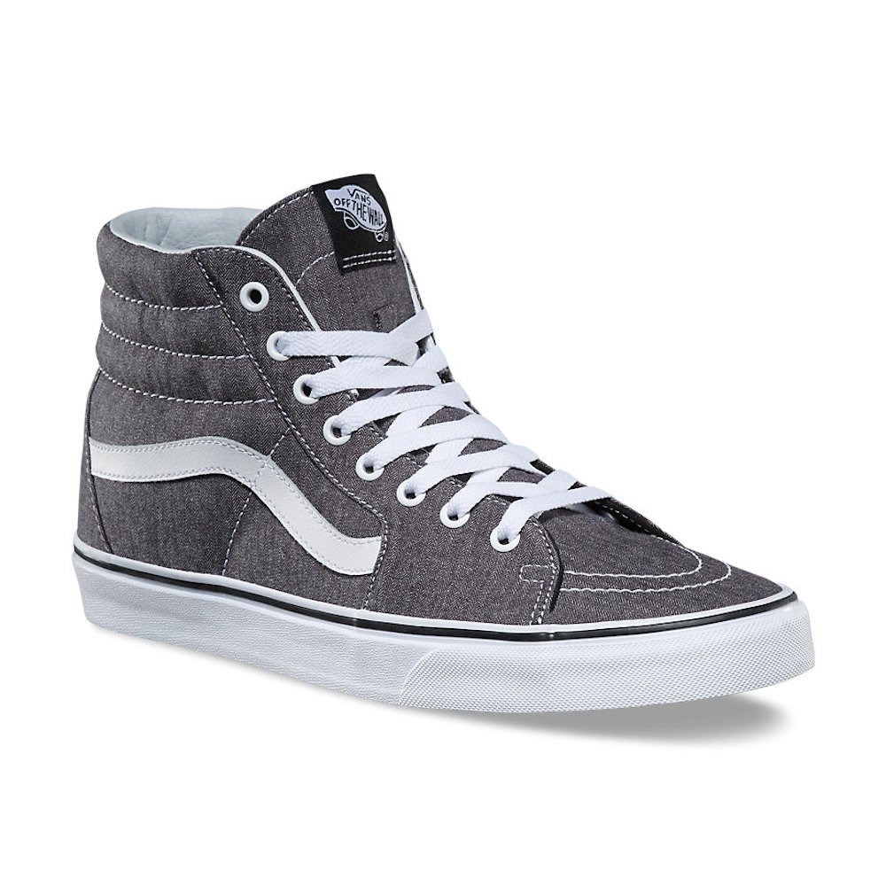 689db55d9b Galleon - Vans SK8 Hi Micro Herringbone Black True White Men s Skate Shoes Size  11