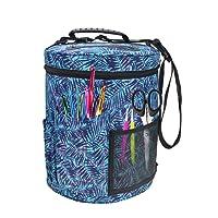 Garn-Aufbewahrungstasche Organizer Stricken Canvas Große Tasche für die Aufbewahrung von Strickzubehör und Häkelnadeln.