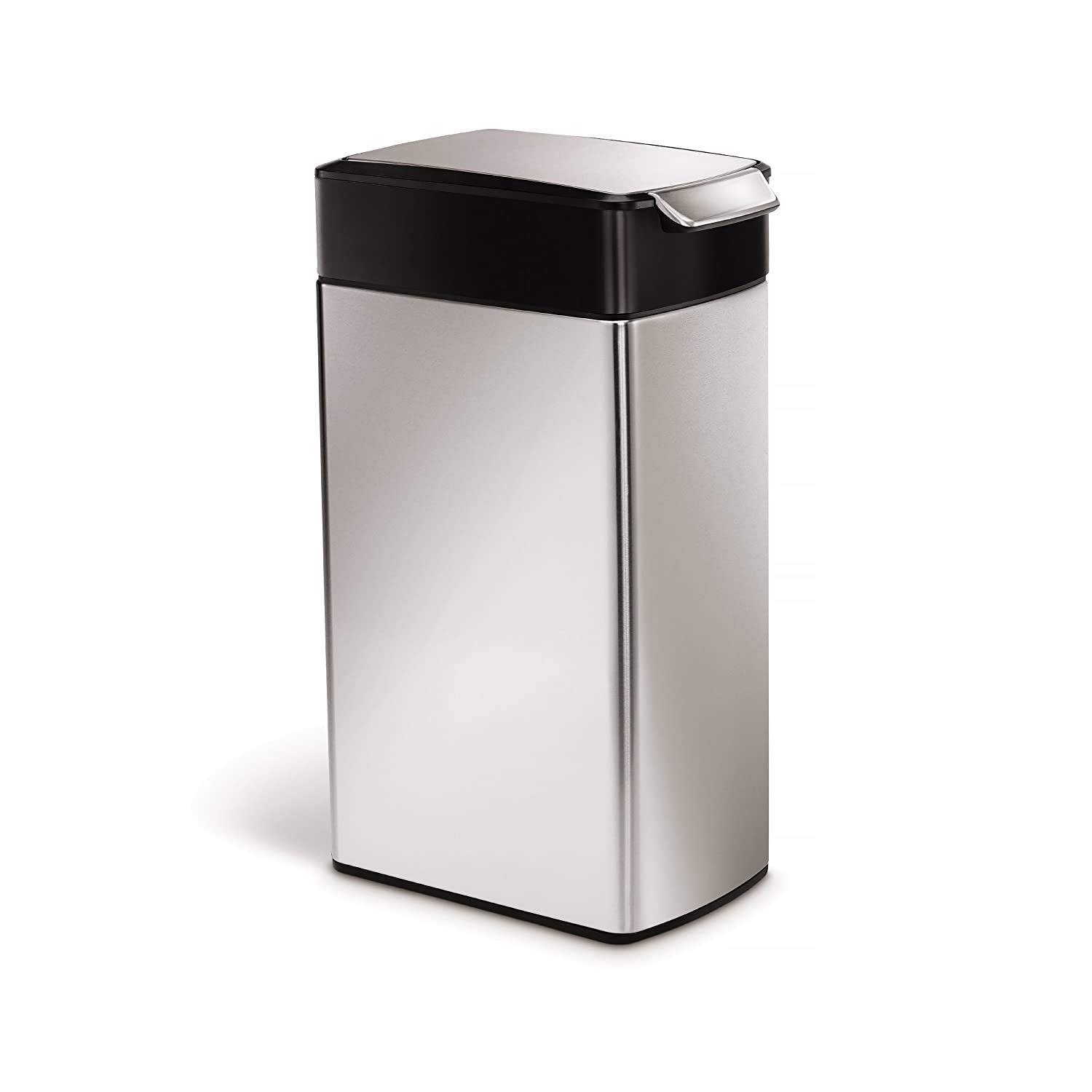 simplehuman Slim Touch Bar Bin, 40 L - Brushed Stainless Steel ...