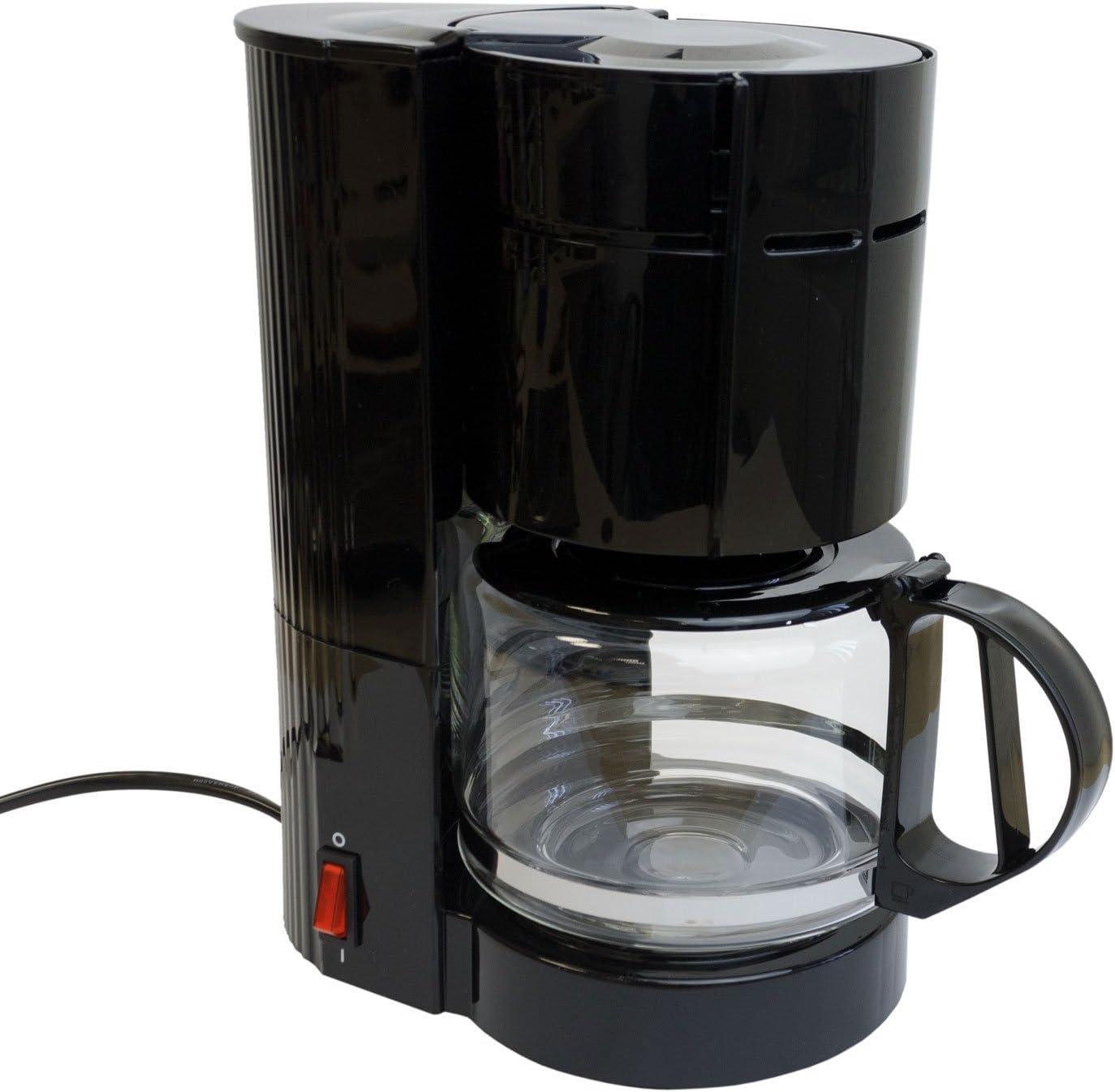 Cafetera con jarra de cristal (12 tazas/24 V/300 W Viaje Cafetera Eléctrica Camiones Barco o Camper Encendedor de cigarrillos filtro cafetera eléctrica: Amazon.es: Hogar