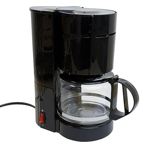 Cafetera con jarra de cristal (12 tazas/24 V/300 W Viaje Cafetera Eléctrica Camiones Barco o Camper Encendedor de cigarrillos filtro cafetera ...