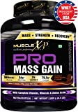 MuscleXP PRO Mass Gainer With Whey Protein, Whey Isolate, 24 MultiVitamins & Digestive Enzymes - 2Kg (4.4 lbs), Double Chocolate
