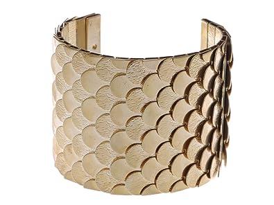 Alilang Golden tono egipcio grabado con textura pulsera de escalas festoneados Wrap - Tensiómetro de brazo: Amazon.es: Joyería