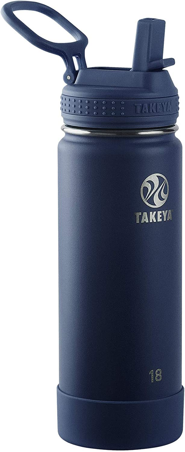 Takeya Actives Straw, 18 oz, Midnight
