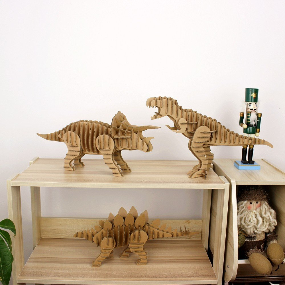 I\'m Charmer Full Body Tyrannosaurus Rex 3D Model Puzzle Made From 100% Recycled Cardboard