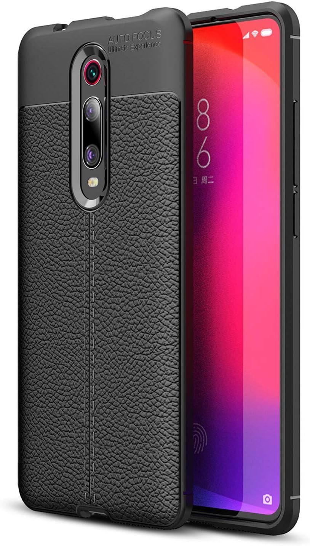 Olixar Funda para el Xiaomi Mi 9T Attache Tipo Cuero - absorción de Golpes - Negra