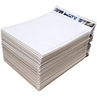 "iMBAPrice IC-PB8.5X12WT-25PK #2 Self Seal Poly Bubble Mailers Padded Shipping Envelopes (Total 25 Bags), 8.5"" x 12"", White"