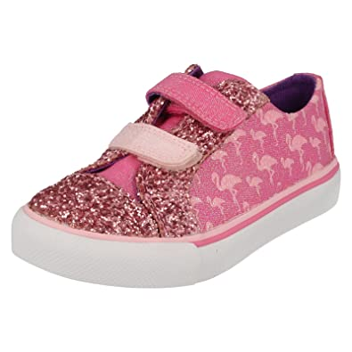88e3ac7713f Clarks Brill Race Girls Infant Canvas Shoes Child UK 11 Pink Combi ...