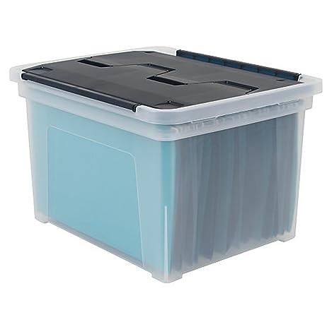 Office Depot Brand Wing Lid Letter/Legal Plastic Storage Box, 8.75 Quart,