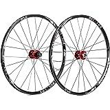 "BUCKLOS 【US Stock】 26/27.5/29"" Mountain Bike Wheelsets, Carbon Hub MTB Wheels Quick Release Disc Brakes, 24H Low-Resistant Fl"