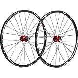 BUCKLOS 【US Stock】 26/27.5/29' Mountain Bike Wheelsets, Carbon Hub MTB Wheels Quick Release Disc Brakes, 24H Low…