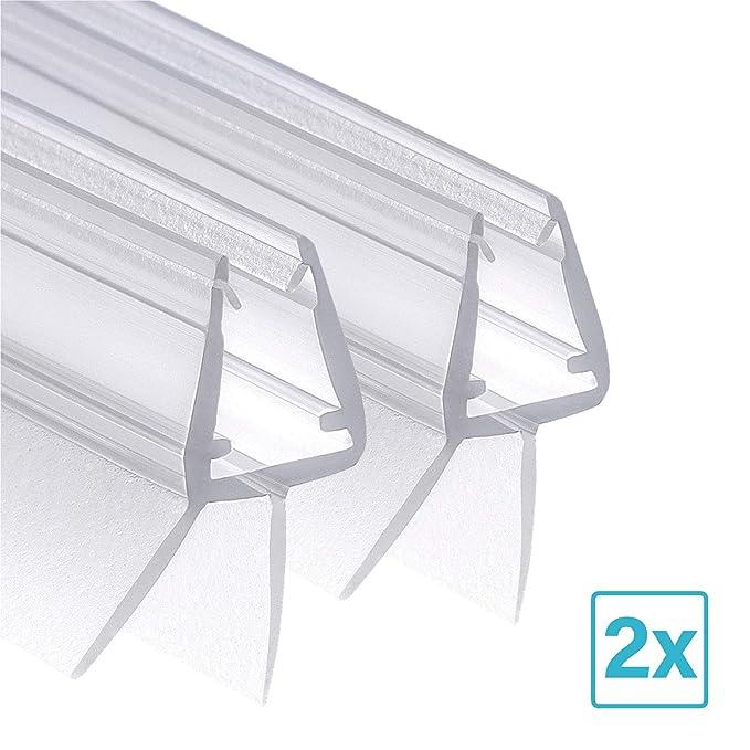 Wellba Duschkabinen Dichtung für Glasstärken von 6mm 7mm oder 8mm für Duschtüren & Glastüren - Ersatz-Dichtung Duschdichtung