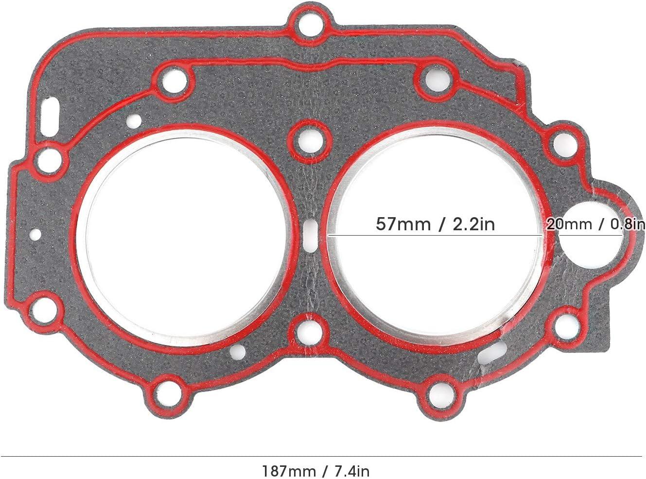 Qiilu Joint de culasse joint de culasse hors-bord en PVC 63V-11181-A1-00 adapt/é pour Yamaha 9.9//15//18 HP 2 temps 97-05