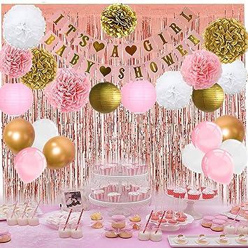 Amazon.com: Decoración para fiesta de baby shower para niña ...