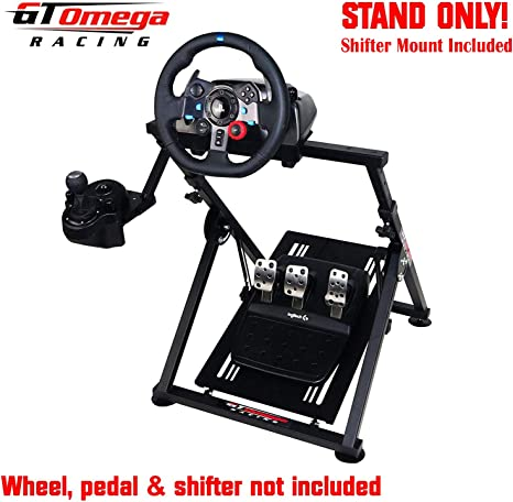GT Omega Racing APEX Steering Wheel Stand for Logitech G29 Gaming Wheel, Pedals & Shifter Mount - Supporting G920 G27 G25 Fanatec PS4 Xbox PC - Tilt-Adjustable to Ultimate Sim Racing Experience: