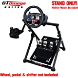 GT Omega APEX Racing Wheel Stand for Logitech Fanatec Clubsport Thrustmaster Gaming Steering Wheel Pedal & Shifter Mount…