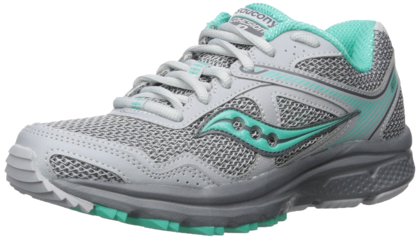 Saucony Women's Cohesion 10 Running Shoe B01MR01Z7B 10.5 B(M) US|Grey Mint