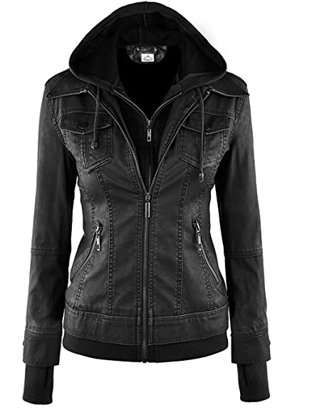VearFit Sparteens Genuine Leather bomber jacket for women: Amazon ...
