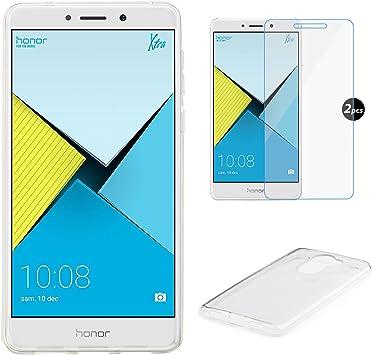 EUGO Funda Huawei Honor 6X + Protector de Pantalla, TPU Funda Gel ...