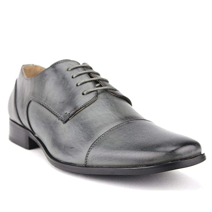 Amazon.com | Mens Classic Leather Lined Derby Cap Toe Oxfords Dress Shoes | Oxfords