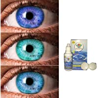 SOFT EYE-Monthly Colour Contact Lens, Zero Power (Darkblue-Aqua-Aquablue)