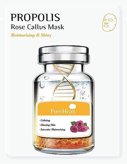PureHeals Propolis & Rose Callus Mask 5 Pack, Mascarilla Facial 5 ...