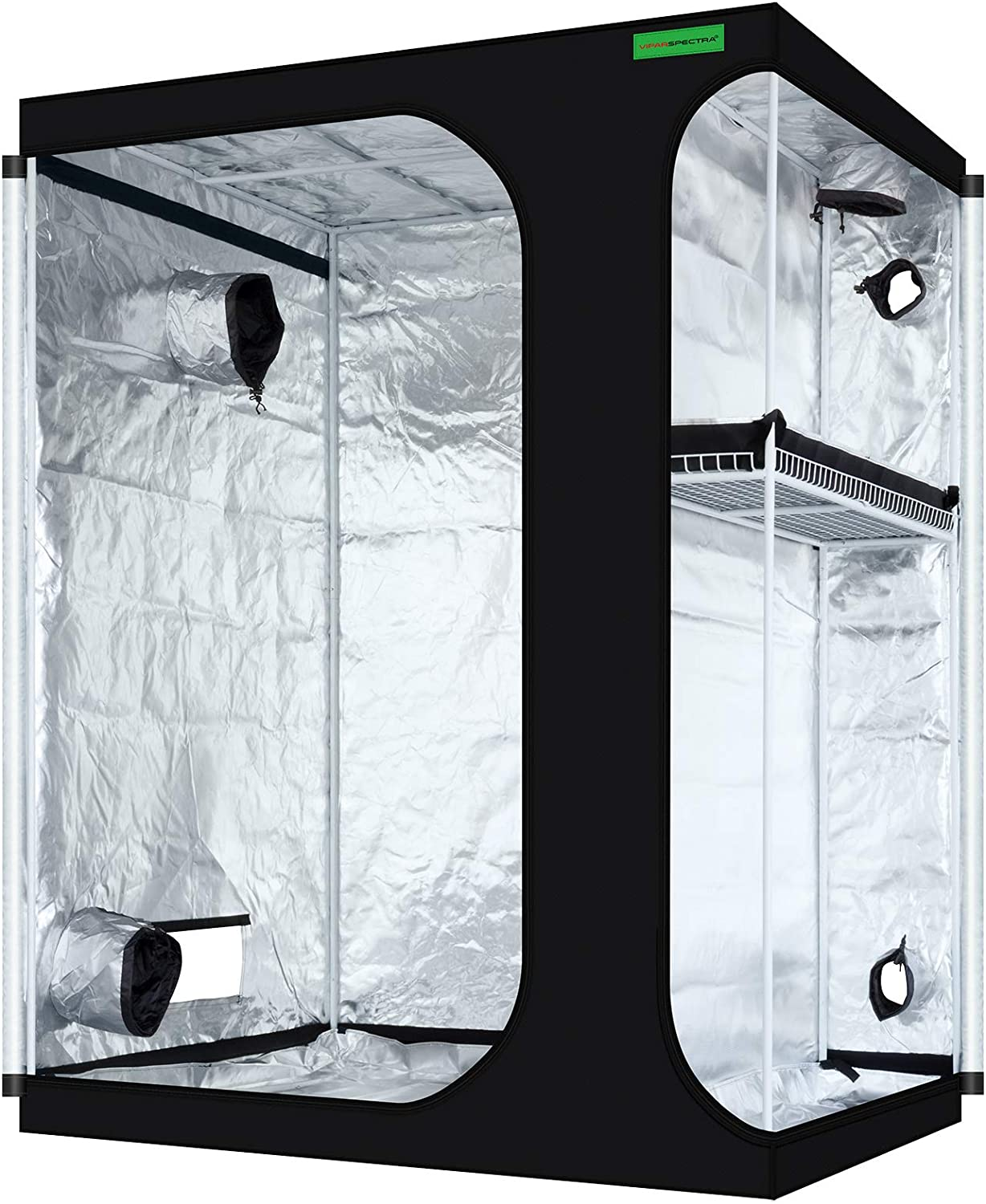 """VIPARSPECTRA 2-in-1 60""""x48""""x80"""" Mylar Hydroponic Grow Cabinet"""