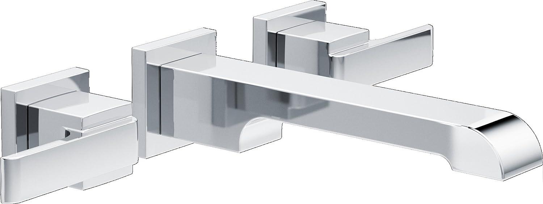 Delta Faucet Delta T3567lf Wl Ara Two Handle Wall Mount Bathroom