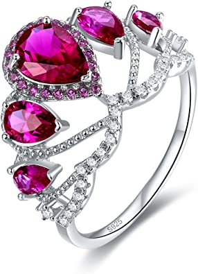 Merthus 925 Sterling Silver Created Mystic Rainbow Topaz Proposal Big Stone Cocktail Statement Ring for Women