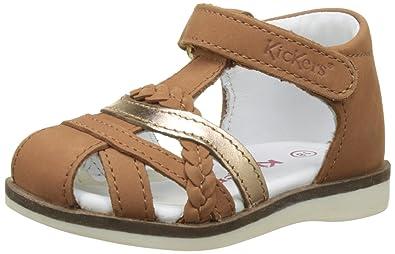 4fe0877903baea Kickers GILIANE, Sandales bébé Fille, Marron (Camel Or), 21 EU: Amazon.fr:  Chaussures et Sacs