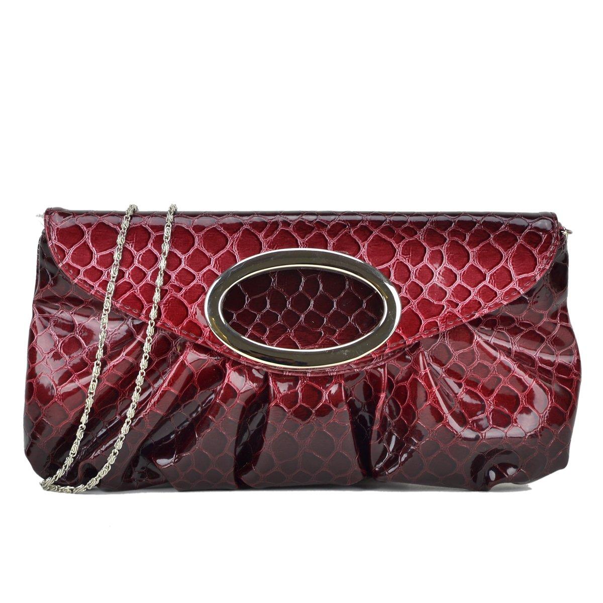 Evening Bag Faux Snake Skin...