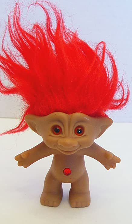 amazon com red treasure troll doll with red wishstone toys games