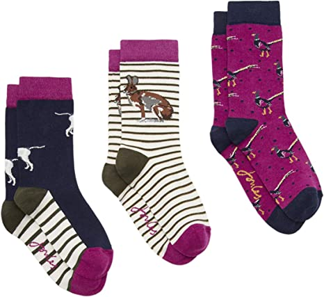 Joules Womens Brilliant Bamboo Hypo Allergenic 3 Pack Socks