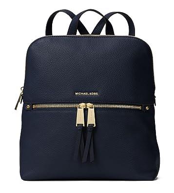 37e567b2d3a6 Amazon.com: MICHAEL Michael Kors Rhea Zip Medium Slim Backpack (Admiral):  Shoes