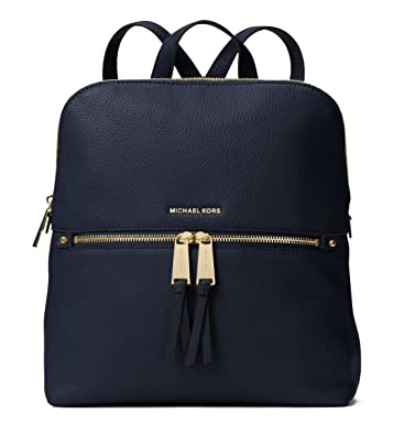 cf209fbbd3ce Amazon.com: MICHAEL Michael Kors Rhea Zip Medium Slim Backpack (Admiral):  Shoes