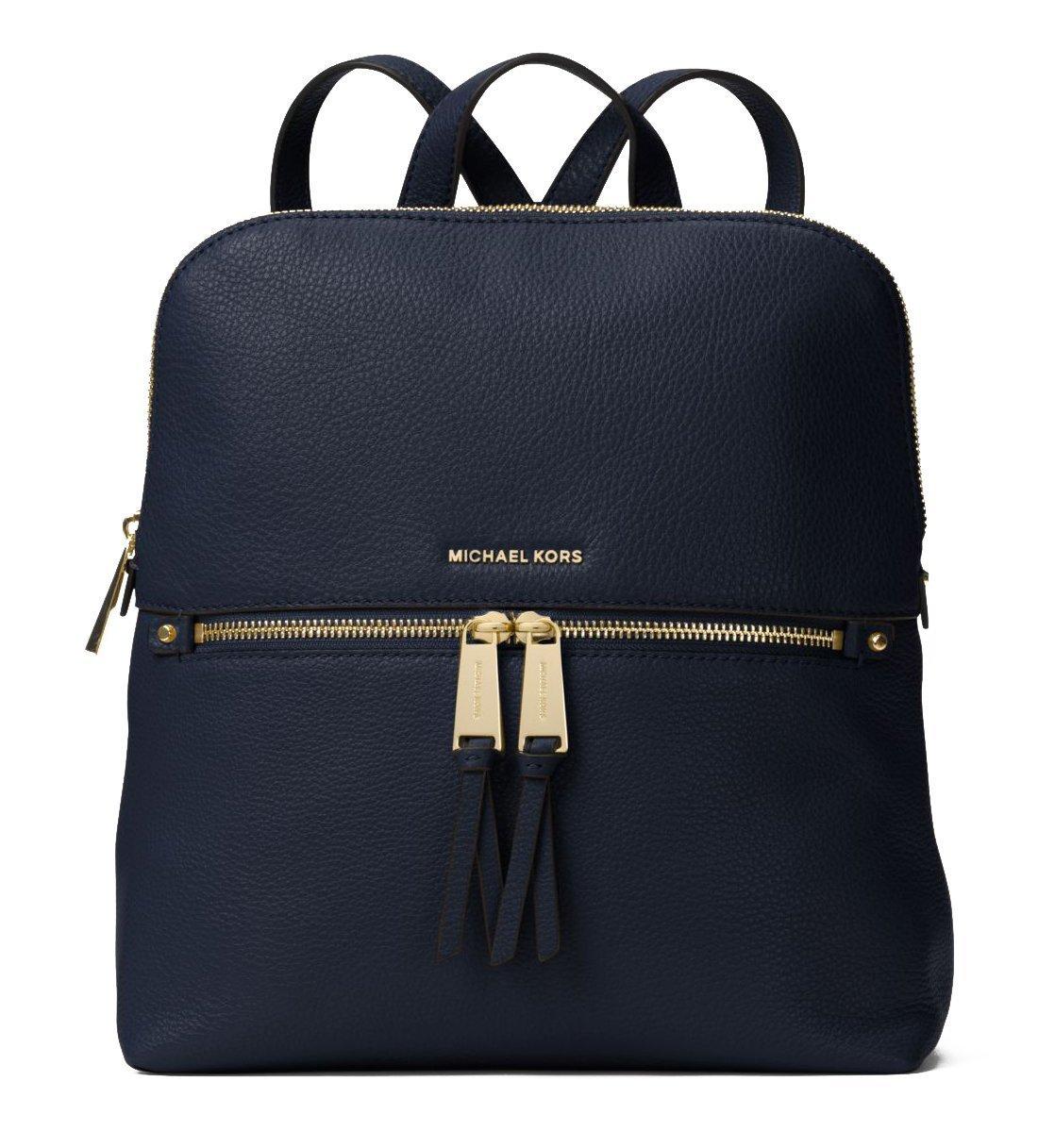 MICHAEL Michael Kors Rhea Zip Medium Slim Backpack (Admiral)