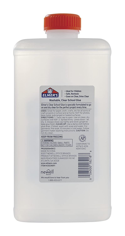 Quality Elmer S Liquid School Clear Glue Washable Original