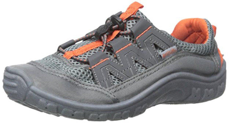 Northside Kid's Brille II Summer Water Shoe, Charcoal/Orange, 4 M US Big Kid; with a Waterproof Wet Dry Bag