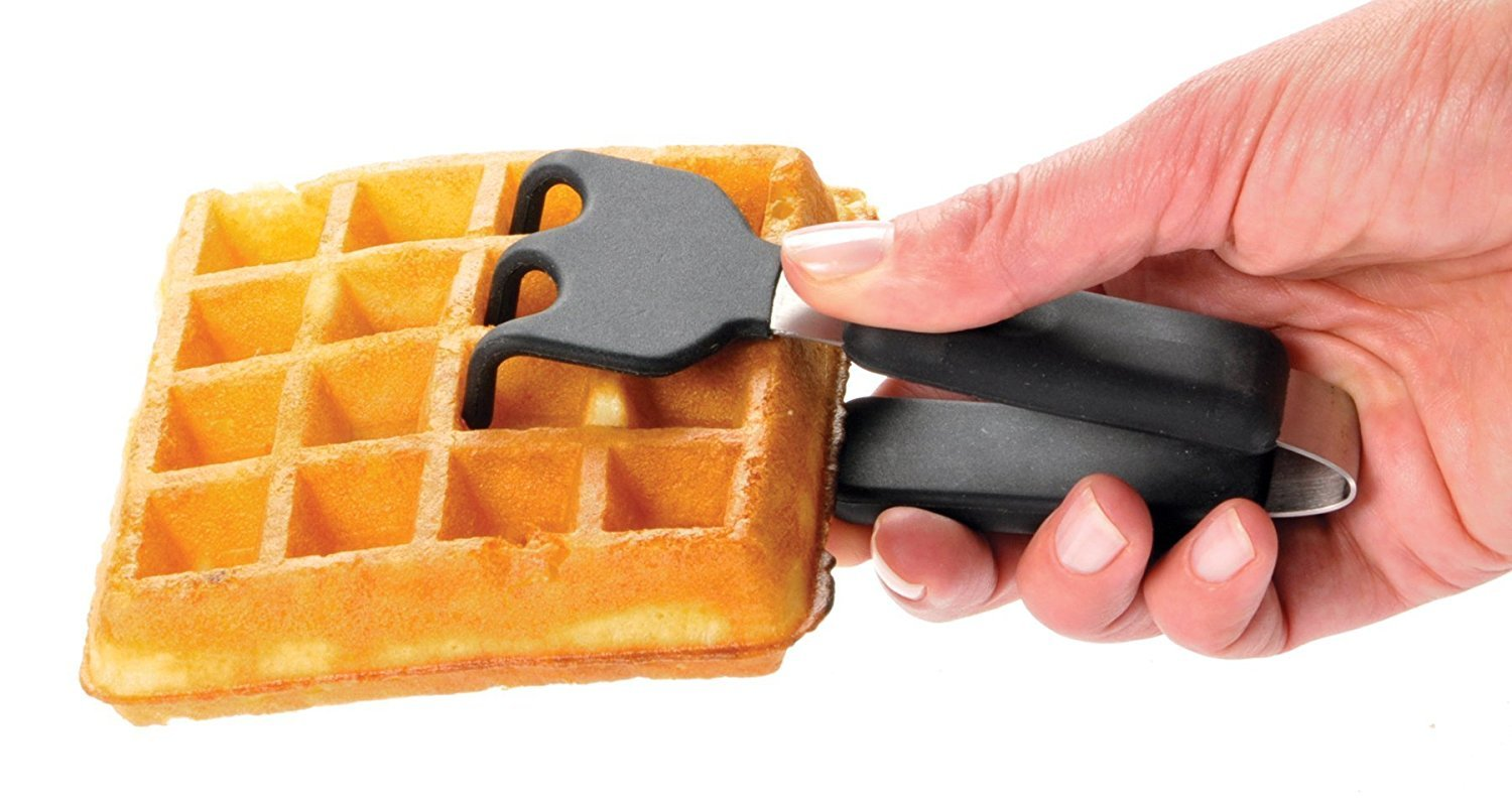 Chef'sChoice 854 International Classic WafflePro 4-Square Waffle Maker Model 854 & Zonoz ez-Mini Grab and Lift Silicone Tongs (Bundle) by Chef's Choice (Image #4)