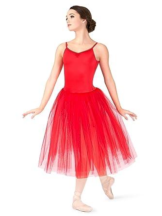 5579d0844 Amazon.com: Natalie Dancewear Womens Romantic Length 3-Layer Ballet Tutu  Dress N9016: Clothing
