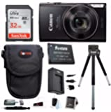 Canon PowerShot ELPH 360 HS Digital Camera w/32GB SD Card & Battery Pack Bundle