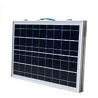 Eco de Worthy panel solar Juego completo–12V Solar cargador de–plegable Módulo Solar–polykristallin células solares 12V para camping caravana Barco, 40 W