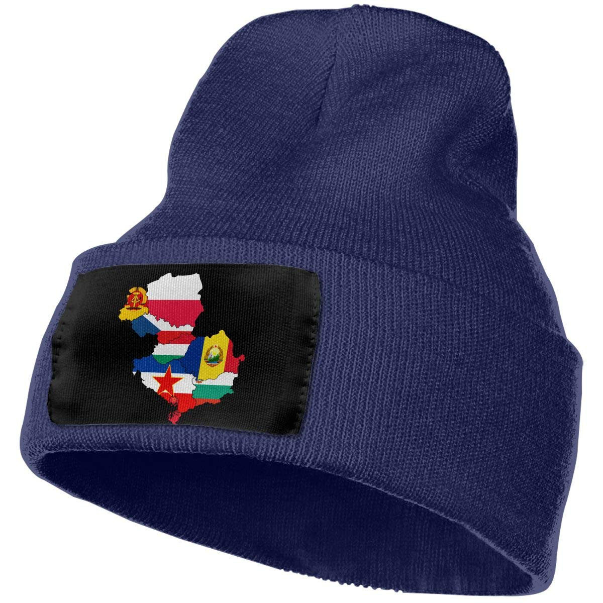QZqDQ Flag Map of Eastern Bloc Countries Unisex Fashion Knitted Hat Luxury Hip-Hop Cap