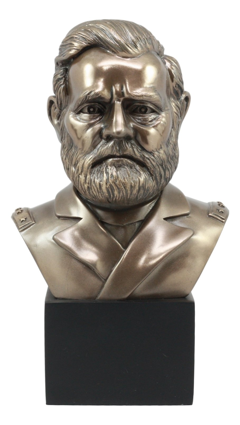 Ebros United States of America 18th President Ulysses Grant Bust Statue 8.75 Inch Tall American Civil War General Patriotic Historical Figurine by Ebros Gift