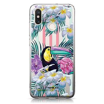 CASEiLIKE® Funda Mi 8, Carcasa Xiaomi Mi 8, Floral Tropical 2240, TPU Gel Silicone Protectora Cover